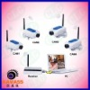 4CH Record and Display 2.4GHz Digital Wireless CCTV Camera Home Security System