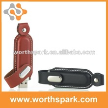 512m leather usb pendrive