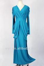 Latest Lady Long Sleeves High Waist Wedding Bridesmaid Maxi Long Dress,YYH-BDF1058#