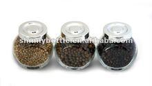 kitchenware glass jas for salt, black pepper, powder