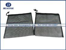 black mesh pouch bags drawstring