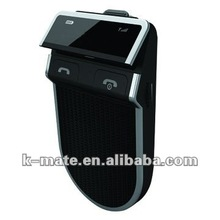 Bluetooth car kit with detachable solar battery & LED display
