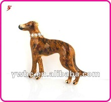 charming new style multi colorful alloy dog animal necklace pendant jewllery (A1105243)