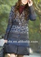 cheap women &lady trendy winter warm long down jackets (OEM)