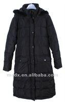 2015 long style thin women basic style down jacket
