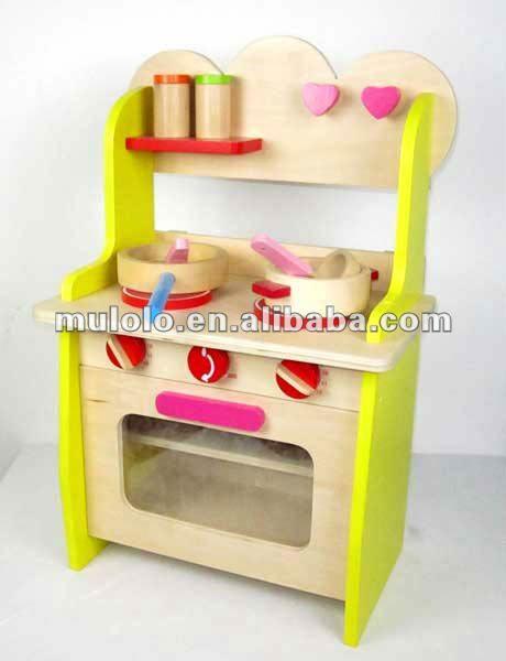 Petite cuisine de jeu en bois pour l 39 enfant avec des - Petite cuisine enfant ...