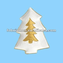 ceramic christmas tree shape plates