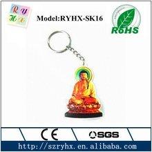 Promoational 3d reflective pvc keychain