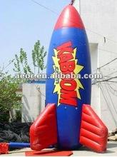Inflatable rocket Balloon/outdoor inflatable balloon