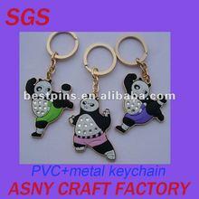 2012 new panda metal pvc keychain