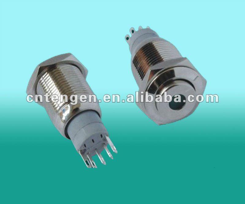 16mm illuminated metal pushbutton switch