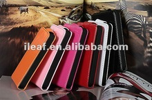 2012 New design! Candy color leather case cow leather case for Apple iphone4 4S