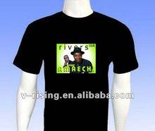 High brightness led equalizer el t-shirt
