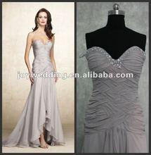 N024 Free shipping ball Ruffle chiffon fashion evening dress formal designer dress 2012