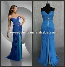 N026 Free shipping ball Ruffle chiffon formal designer dress fashion evening dress 2012