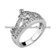 super hot sale silver wedding jewelry set,925 silver diamond ring,cz stone mens/womens ring