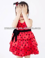 latest yong wear flower dresses party for girls of 2-6 years old,funky summer skirts