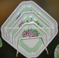 11015-11023 melamina prato quadrado/servindo pratos conjuntos