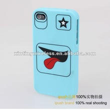 for iphone4/4s silicone face design phone case cover