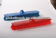 HQ0008 excellent plastic floor brush with iron handle coloful made in china