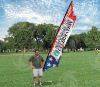 Screen or sublimated polyester or nylon Beach or Feather flag