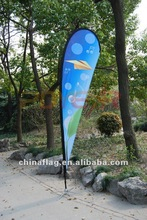 Custom Screen or sublimated polyester or nylon Beach or Feather flag