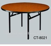 Folding Restaurant Dining Table Steel Leg