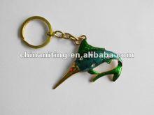 2012 new design fish metal keychain