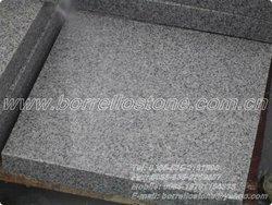 Dark grey granite flamed brushed