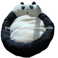 UW-NPB-057 lovely black+white panda design plush pet beds for dogs