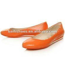 2012 fashion new design shining woman flat shoes