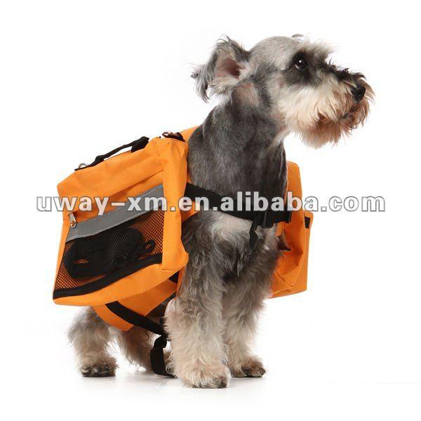 UW-PBP-027 Large size outdoor traveling orange oxford dog carrier,dog backpack,dog travel bag