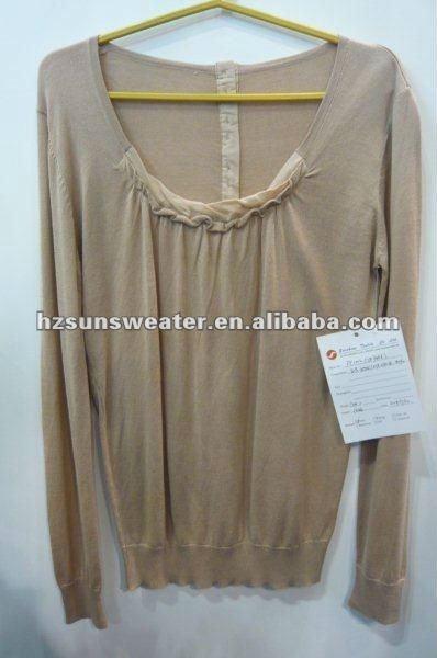 2015 para mujer suéter de algodón