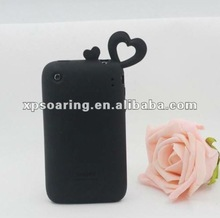 loving heart silicone case back cover for iphone 4g 4S