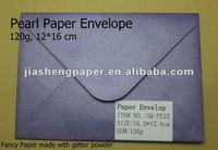 JS 120g 16*16cm Oblong Gummed Pearl Paper Envelope