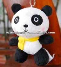 Lovely panda style plush keychain toy