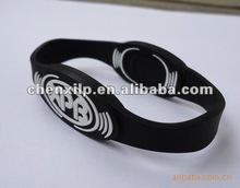Custom silicone ion sport bracelet/power band balance bracelet.silicone energy band