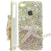 Starfish Small Diamond Crystal Case for iPhone 4S(Off-White)