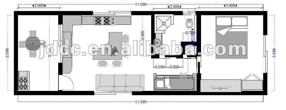 Modifier gratuite maison de r cipient plan maisons pr fabriqu es id du produit 536044048 french Plan maison conteneur