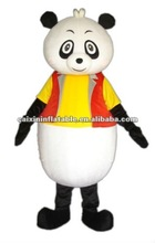 hot sale party panda with jacket mascot costume