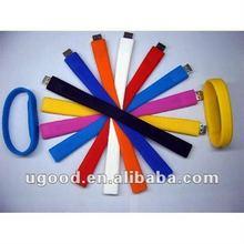 Promotional usb wristband wholesale/usb wristband silicone