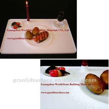 clear surface acrylic coffee/tea/dinner tabletop, marble acrylic solid surface