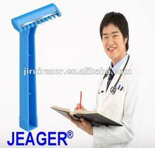 Medical Razors,Blue MSR-I,Single Edge Fixed Blade,Comb,Plastic Handle,Hospital/Doctor/Operation Disposable Shaver