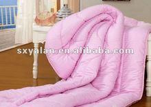 Hotel 100% cotton sateen stripe , polyester filling duvet/quilt