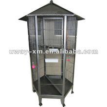 UW-PT-051 Hexagon standing metal bird cages,bird breeding cage,bird feeding cage