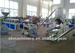 Plastic film crushing washing granulator production line