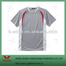 2012 Newest Dry Fit Men's Outdoor Sport O-neck Tshirt with side inserts design