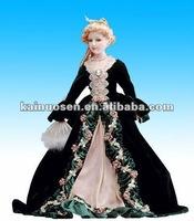 Vintage porcelain doll ,ceramic doll for home decoration
