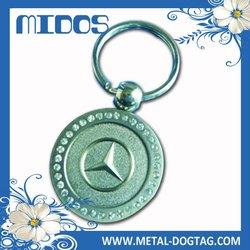 Metal key ring fobs
