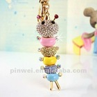 Fashion Rhinestone Jewelry key ring Insect KC10257